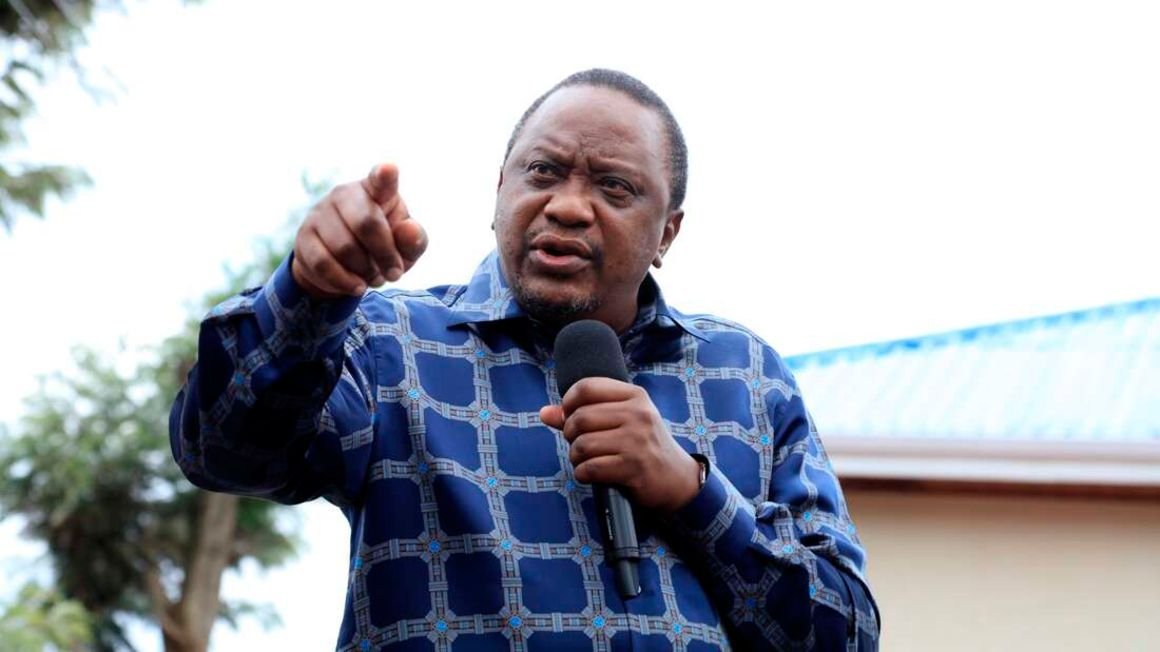 President uhuru at a past function where he gave a presidential order to independent commissions