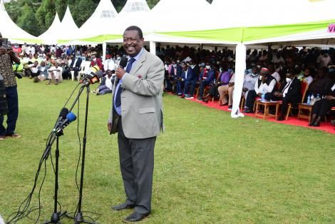 Musalia mudavadi who declared that he funds his own presidential campaigns. he is the party leader of ANC party, whose members also contribute to his finances.