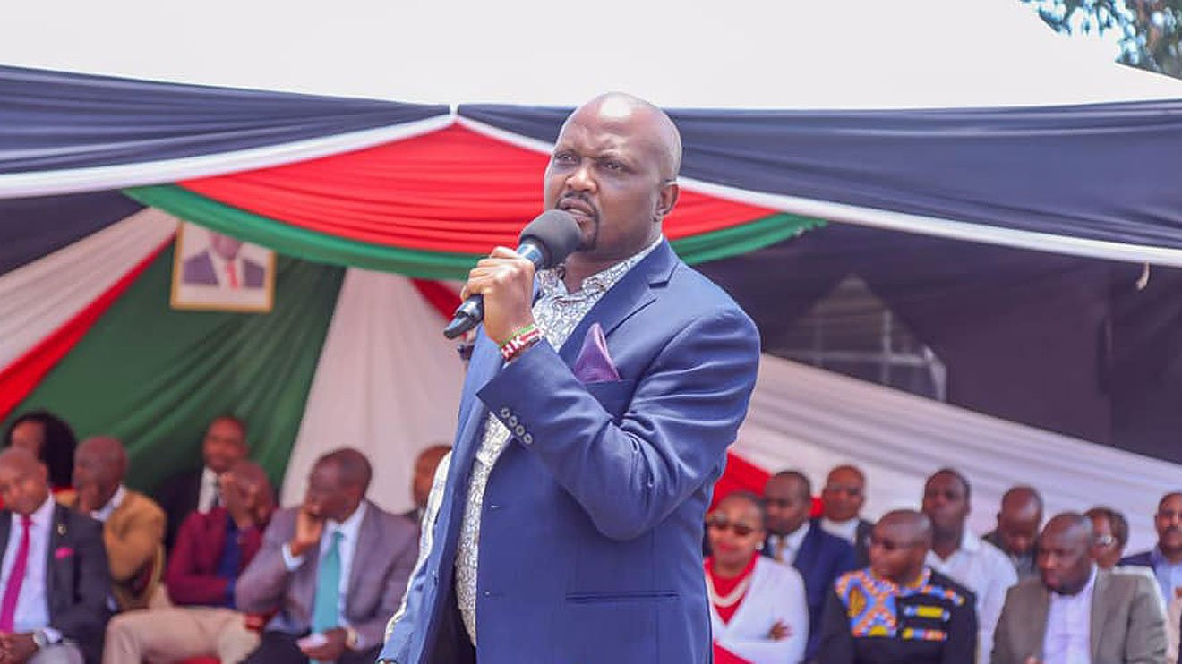 Moses Kuria Mp For gatundu south who has declared that he will not vie for any political sat in 2022 but will support william ruto for the presidential seat.