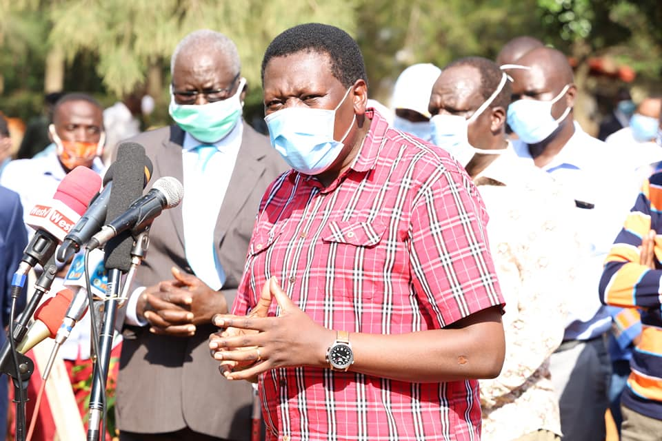 Eugene wamalwa who presided over the AFC leopards fundraiser where he was joined by Wycliffe oparanya and they were able to raise 8 million shillings.