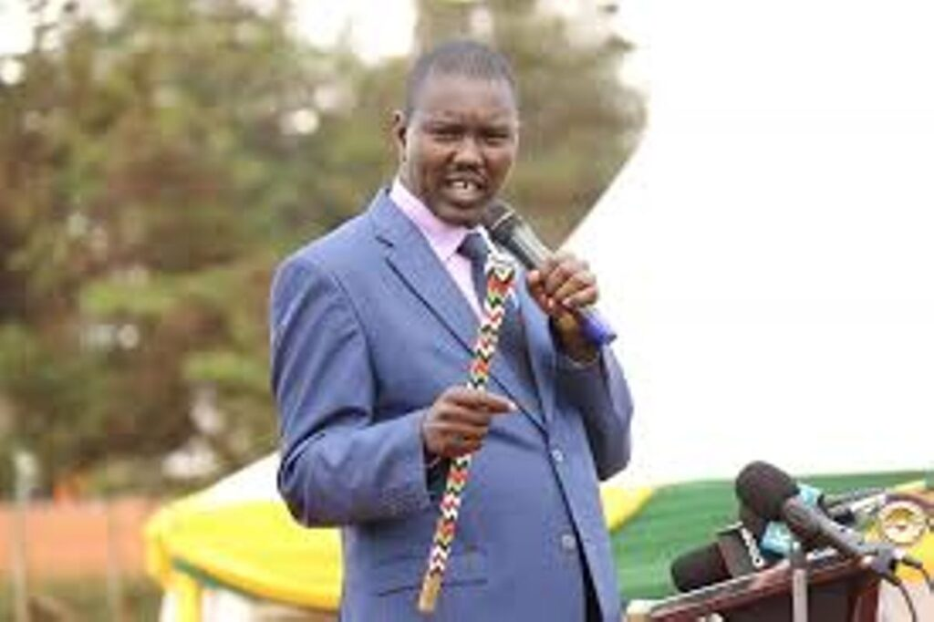 Governor Jackson Mandago who has declared his interest for the senator's seat in uasin gishu county. he is a close ally of deputy president william ruto.